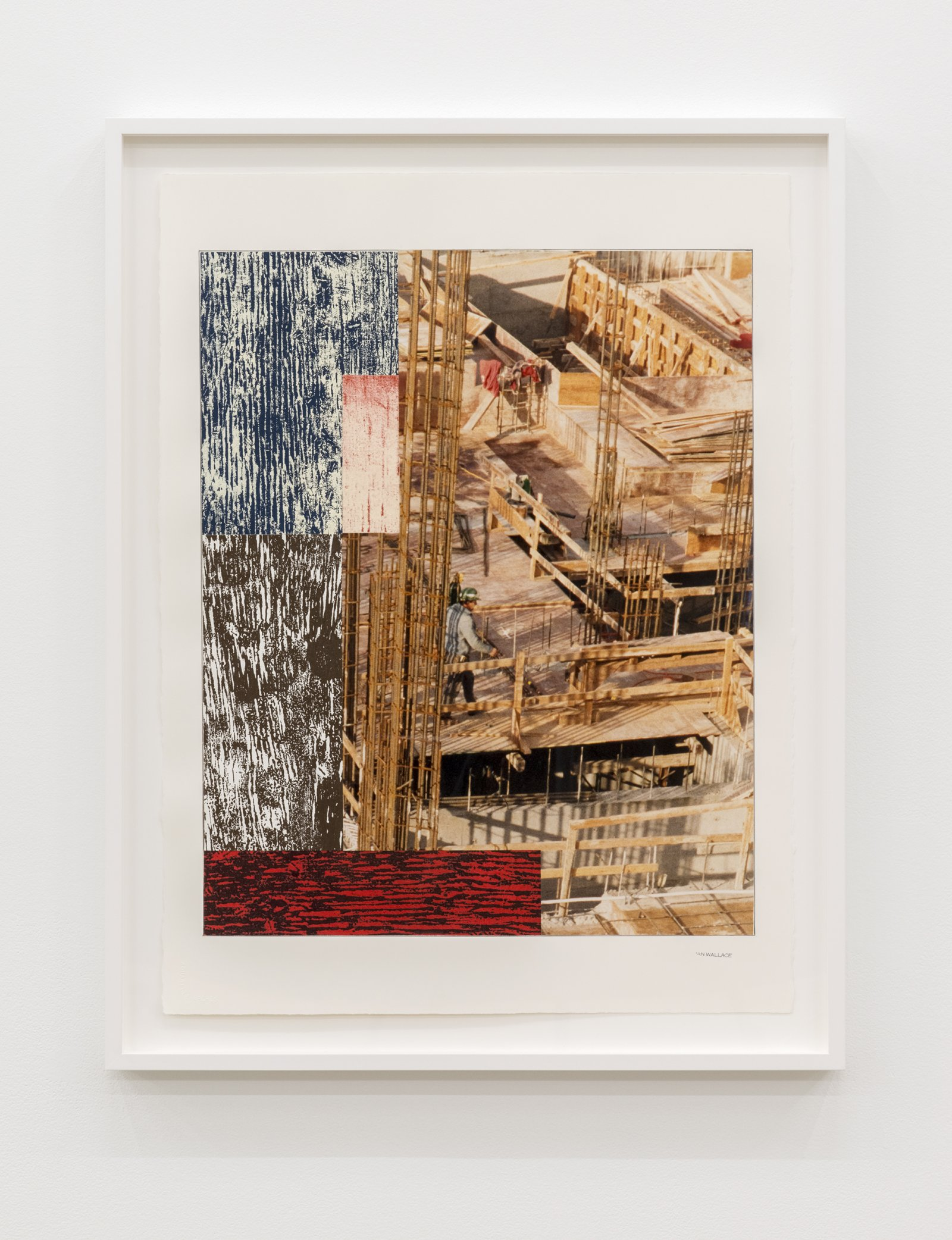 Ian Wallace, Study for Composition with Construction Site I, 1992–2012, paper, pencil, acrylic, photograph, ink, monoprint on canvas, 30 x 23 in. (77 x 57 cm) by Ian Wallace