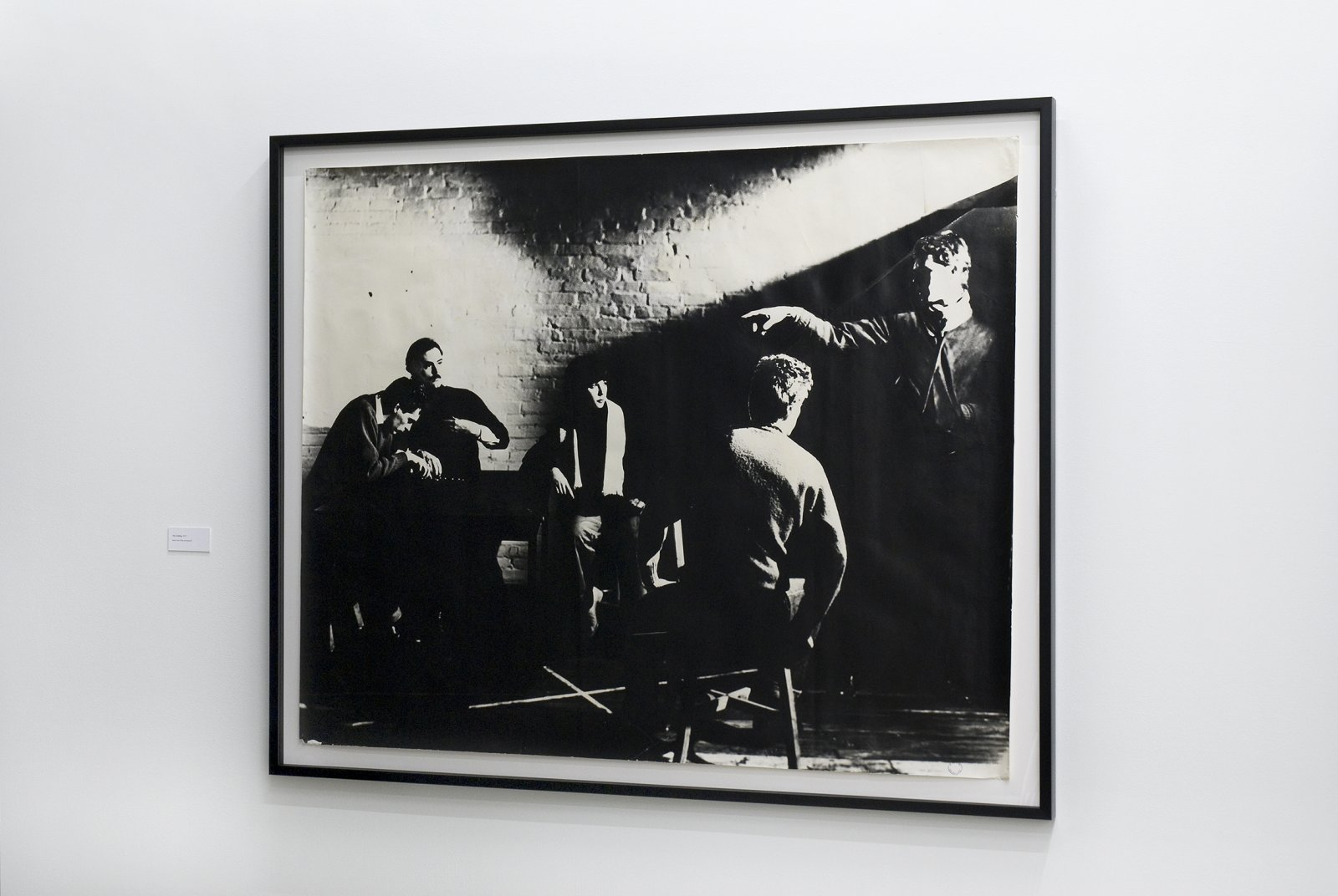 Ian Wallace, The Calling, 1977, black and white photograph, 47 x 58 in. (118 x 146 cm) by Ian Wallace