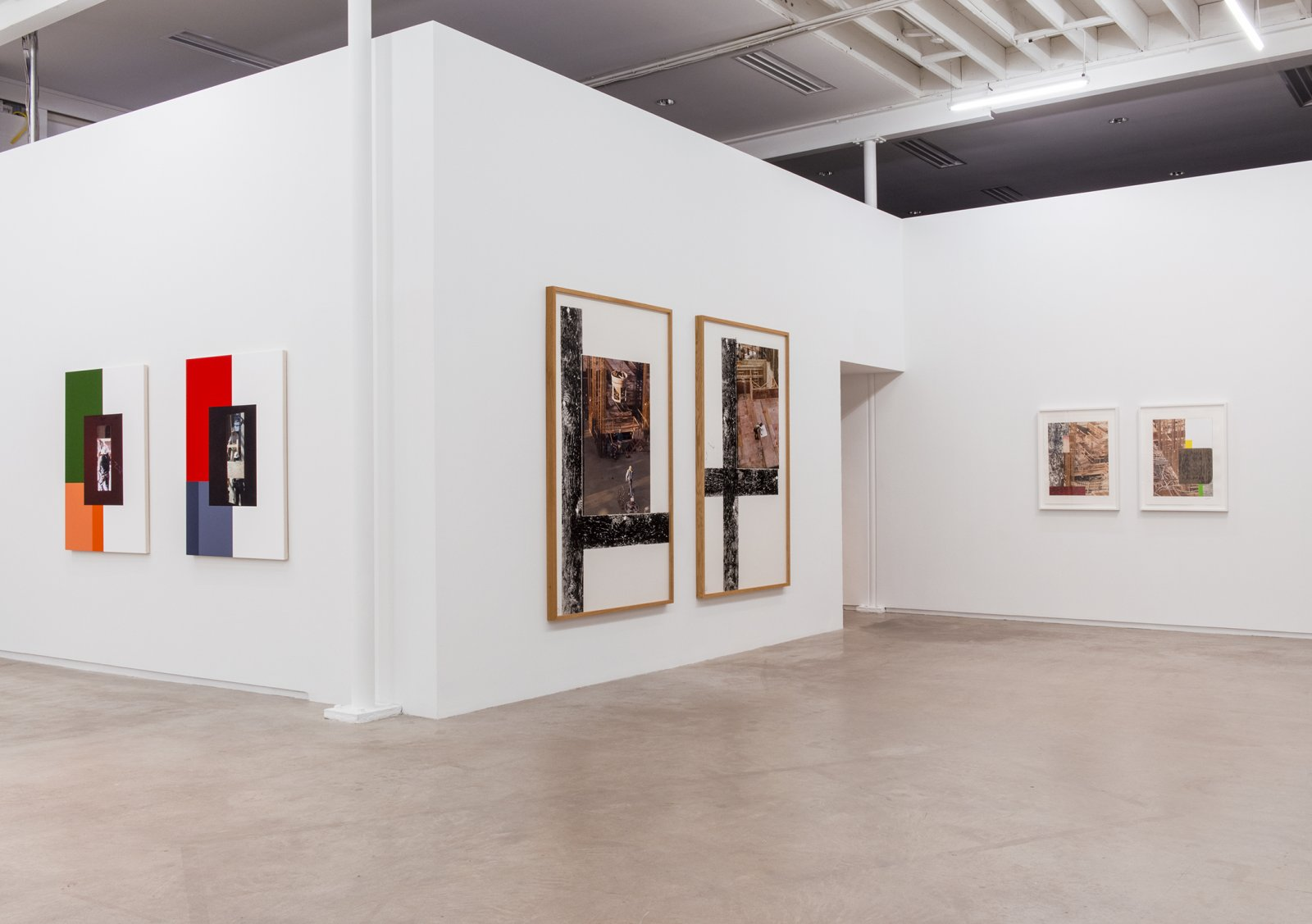 Ian Wallace, installation view, The Construction Site, Catriona Jeffries, 2015​​ by Ian Wallace
