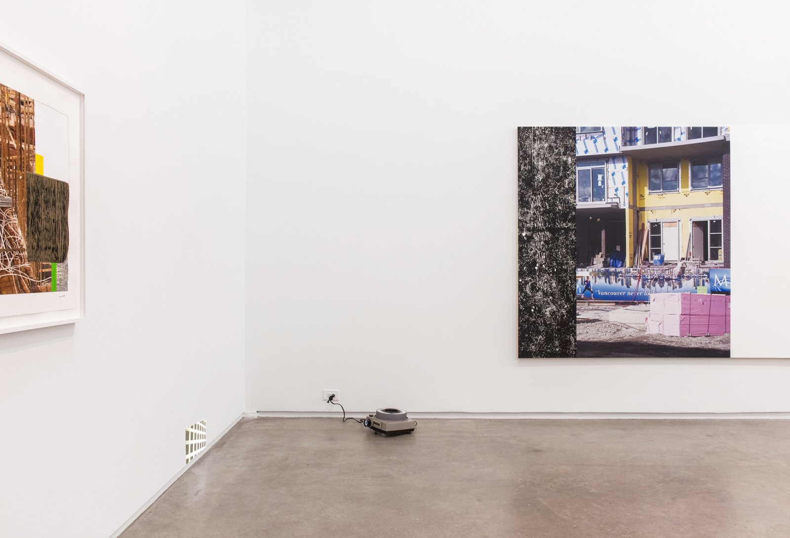 Ian Wallace, installation view, The Construction Site, Catriona Jeffries, 2015 by Ian Wallace
