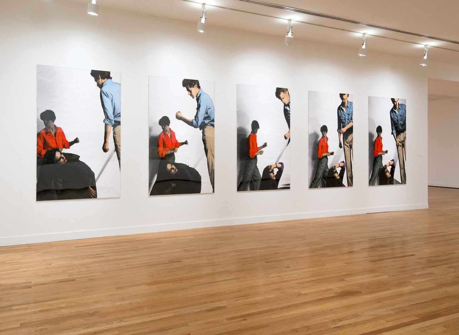 Ian Wallace, The Constructor, 1976, 5 hand-coloured silver gelatin prints, each 69 x 47 in. (175 x 119 cm). Installation view, A Literature of Images, Vancouver Art Gallery, 2012 by Ian Wallace
