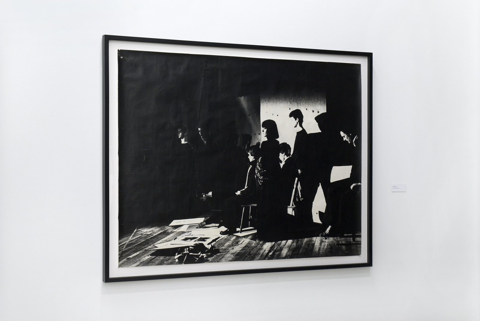 Ian Wallace, The Studio, 1977, black and white photograph 45 x 57 in. (113 x 145 cm) by Ian Wallace