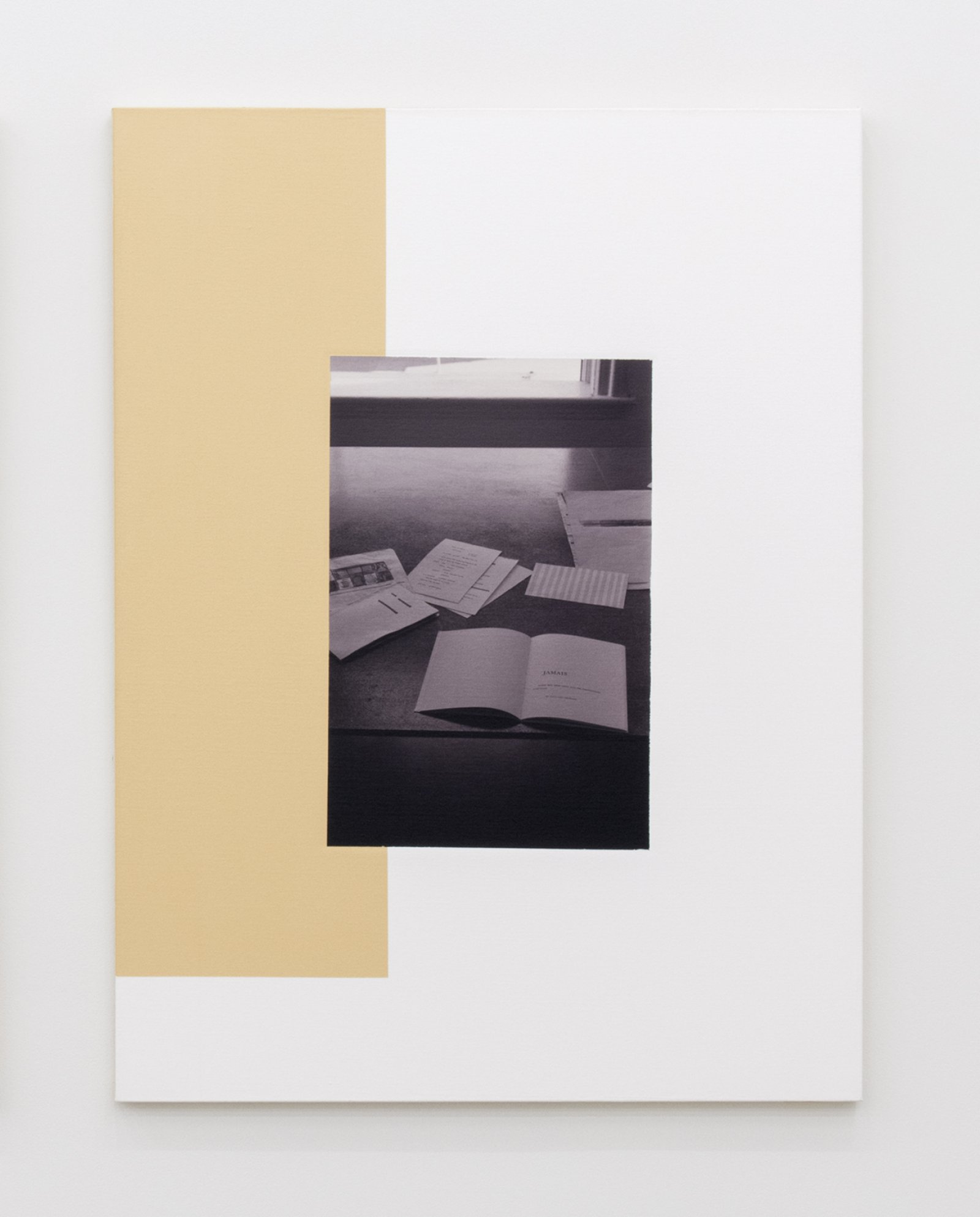 Ian Wallace,The Table (Image/Text) I, II(detail), 1979–2007, photolaminate and acrylic on canvas, 48 x 72 in. (122 x 183 cm)