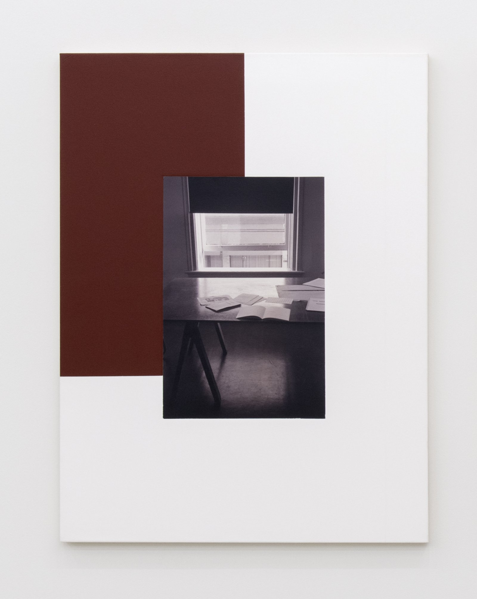 Ian Wallace, The Table (Image/Text) I, II (detail), 1979–2007, photolaminate and acrylic on canvas, 48 x 72 in. (122 x 183 cm)