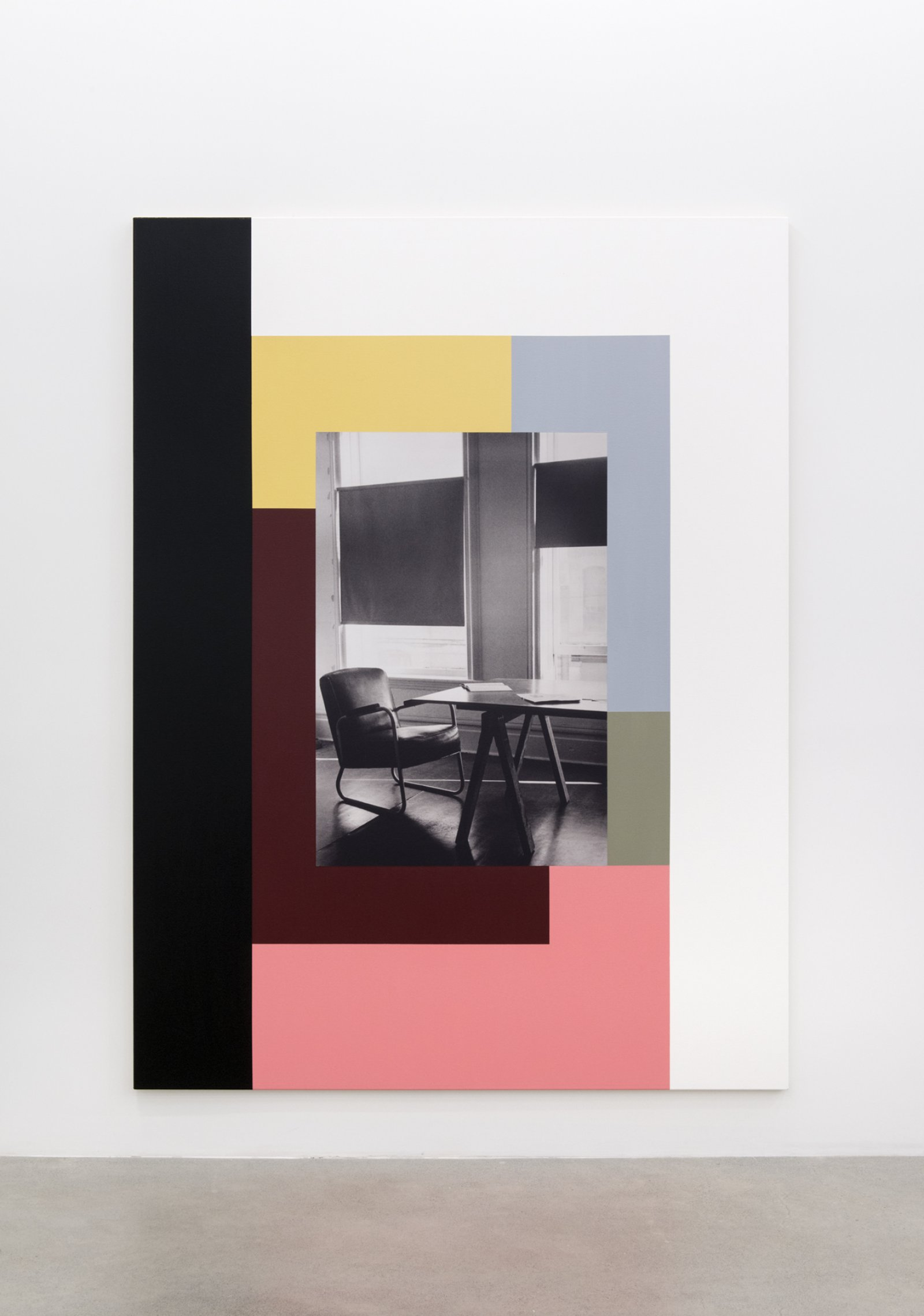 Ian Wallace, The Table (Image/Text), III, 1979–2013, photolaminate and acrylic on canvas, 96 x 72 in. (244 x 183 cm) by Ian Wallace