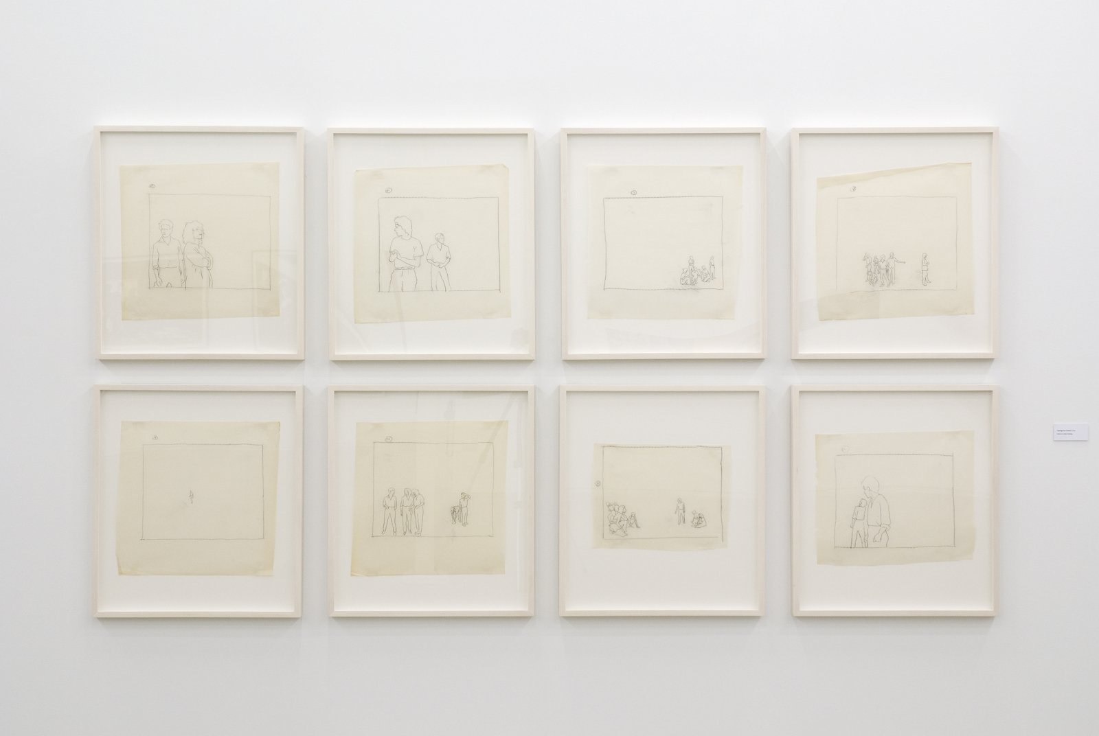 Ian Wallace, Tracings for Lookout, 1979, 8 pencil tracings on vellum, 27 x 24 in. (69 x 61 cm) by Ian Wallace