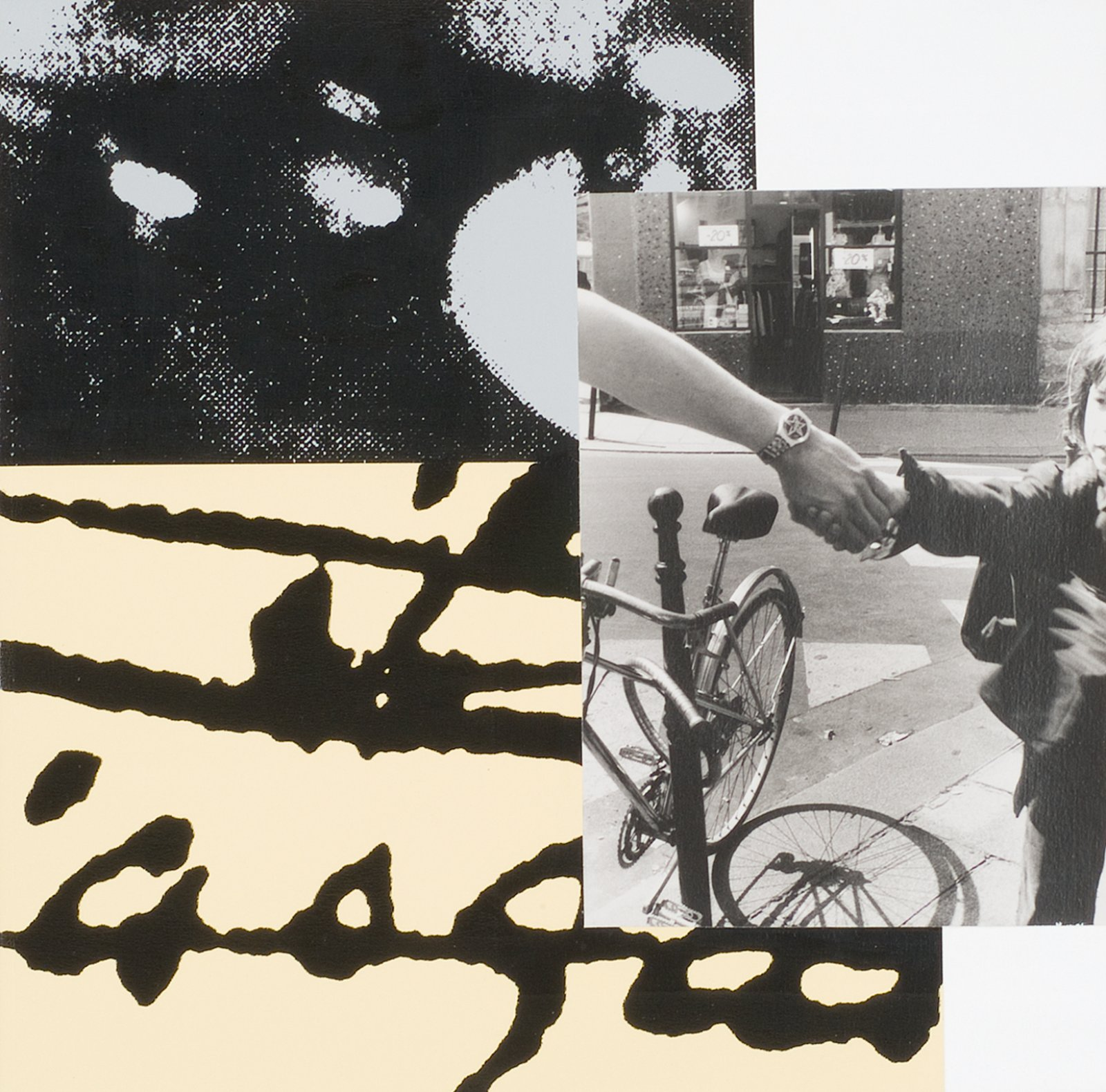 Ian Wallace, Tropismes V, 1995, photolaminate with ink serigraph and acrylic on canvas, 24 x 24 in. (61 x 61 cm). Installation view, A Literature of Images, Kunsthalle Zürich, 2008 by Ian Wallace