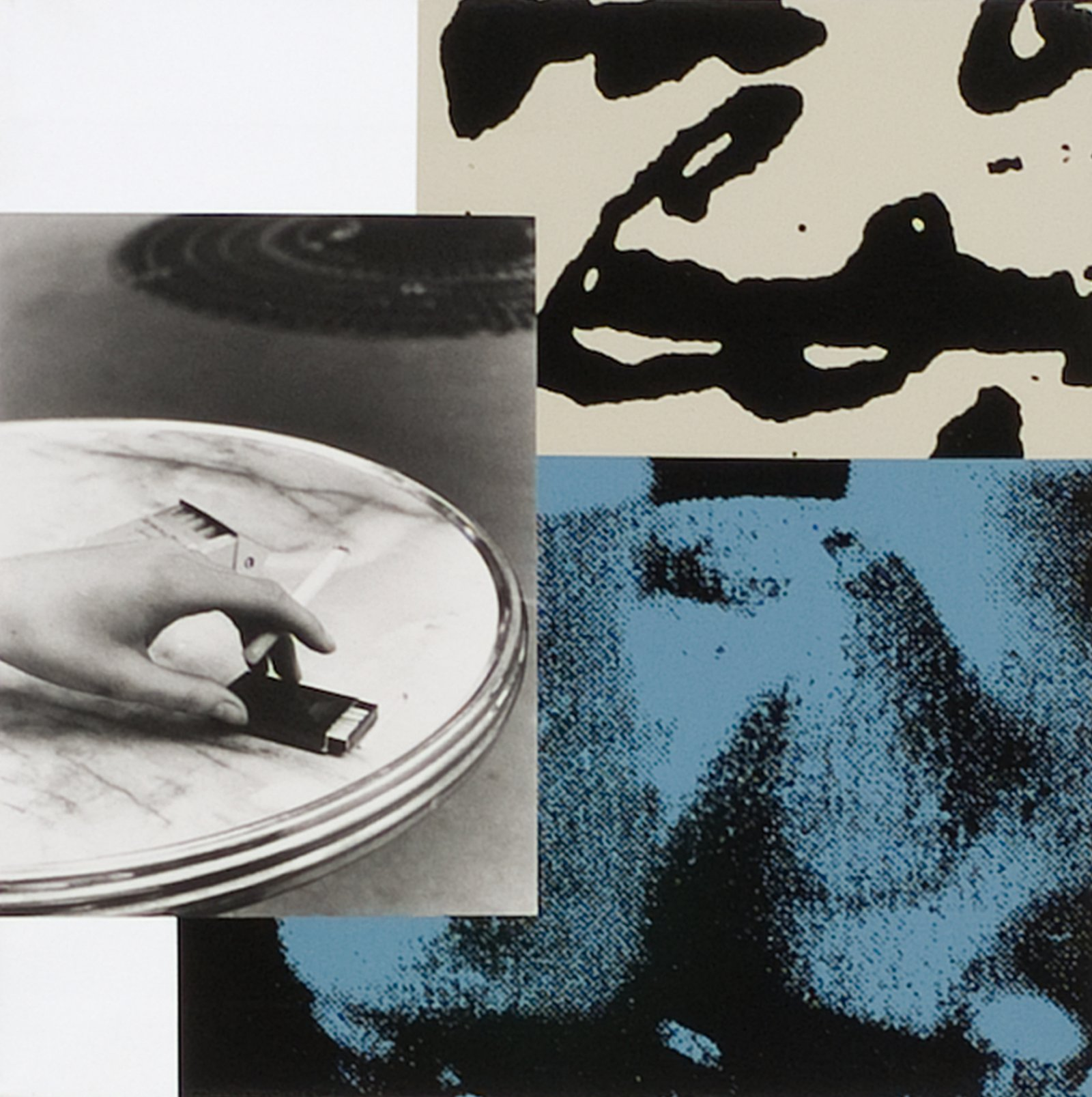 Ian Wallace, Tropismes XIII, 1995, photolaminate with ink serigraph and acrylic on canvas, 24 x 24 in. (61 x 61 cm). Installation view, A Literature of Images, Kunsthalle Zürich, 2008 by Ian Wallace