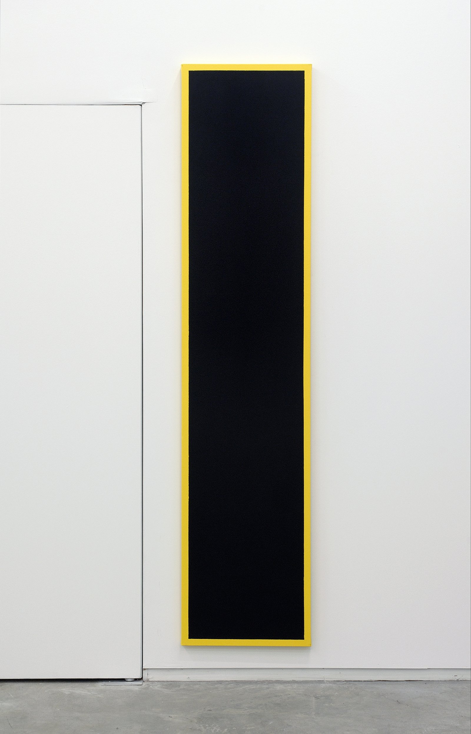 ​​Ian Wallace, Untitled (Black Monochrome with Yellow), 1967–2007, acrylic on canvas, 90 x 20 in. (229 x 51 cm)​​​​​ by Ian Wallace
