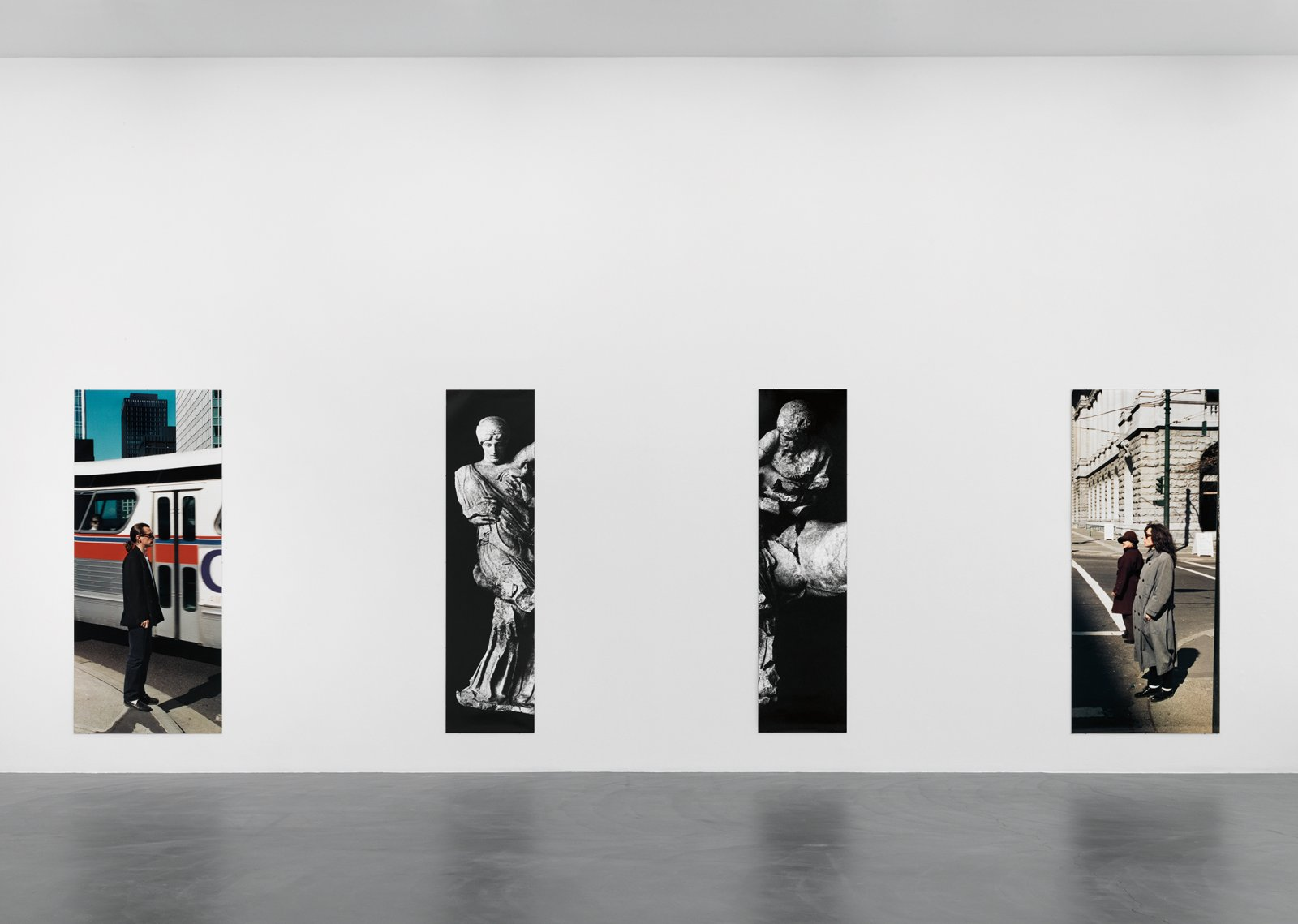 Ian Wallace, Untitled (Heavenly Embrace), 1987, 4 panel photo-mural behind plexiglas, dimensions variable. Installation view, A Literature of Images, Kunsthalle Zürich, 2008 by Ian Wallace
