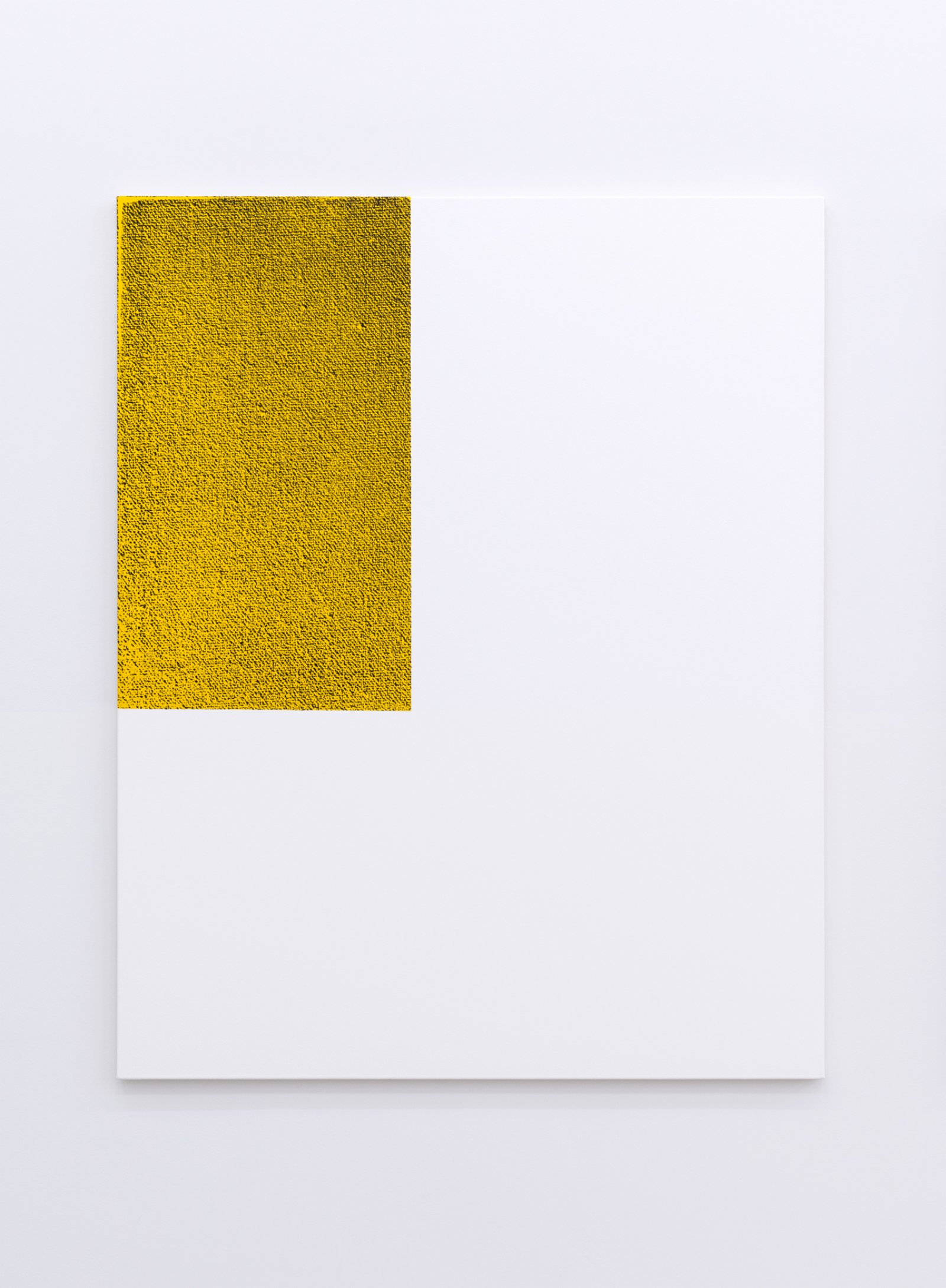 Ian Wallace, Untitled (Monochrome Structure II) (detail), 2014, diptych, silkscreen and acrylic on canvas, each 60 x 48 in. (153 x 122 cm) by Ian Wallace