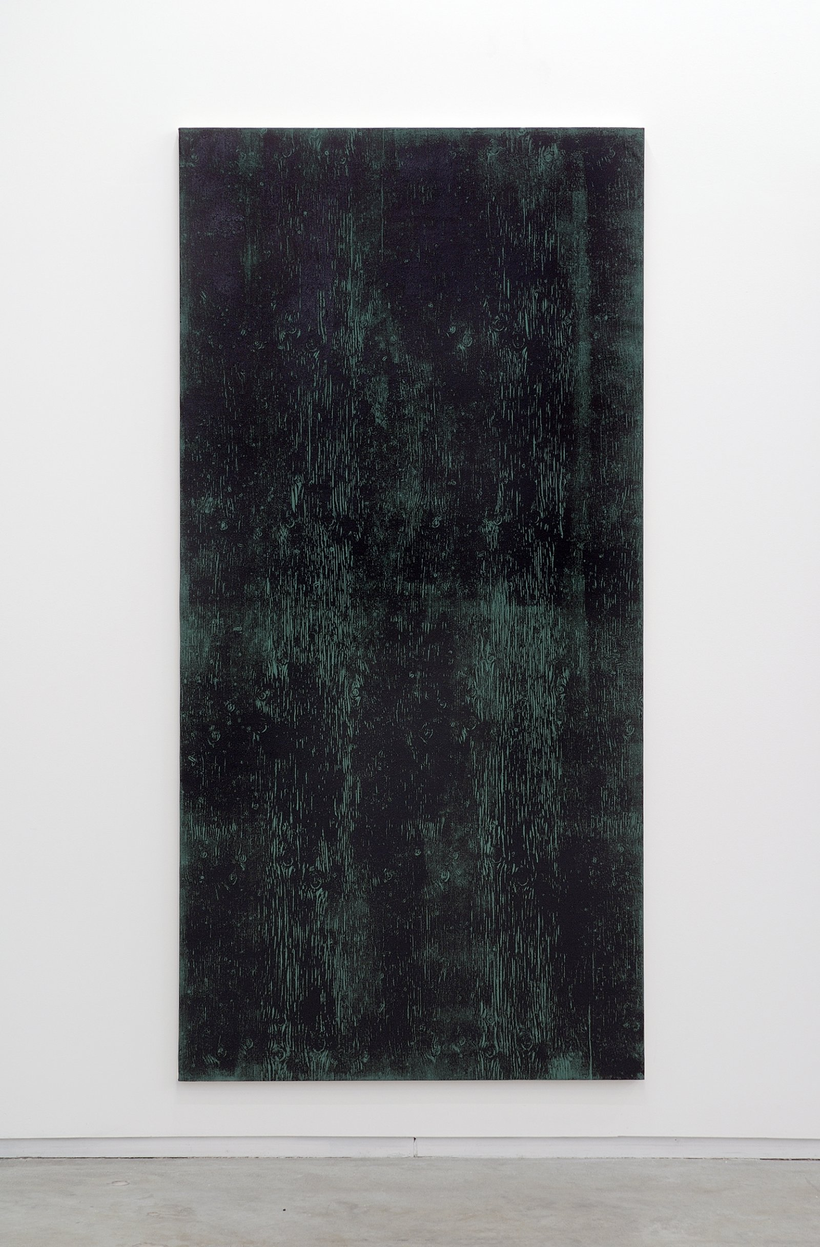 ​Ian Wallace, Untitled (Monoprint with Green), 1990, acrylic on canvas, 90 x 20 in. (229 x 51 cm) by Ian Wallace