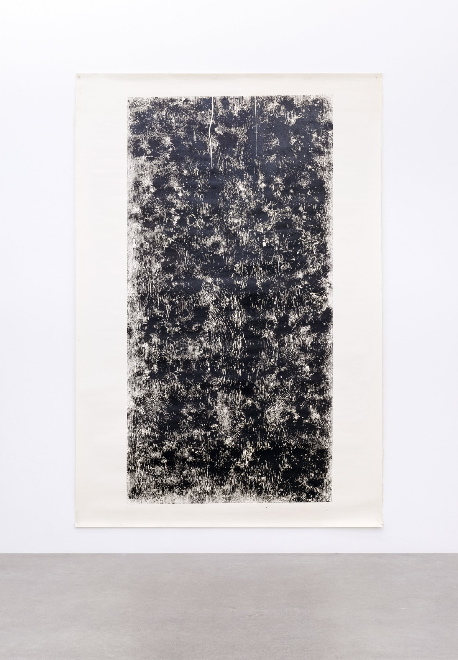 Ian Wallace, Untitled (Monoprint), 1990, ink on paper, 108 x 72 in. (274 x 183 cm) by Ian Wallace
