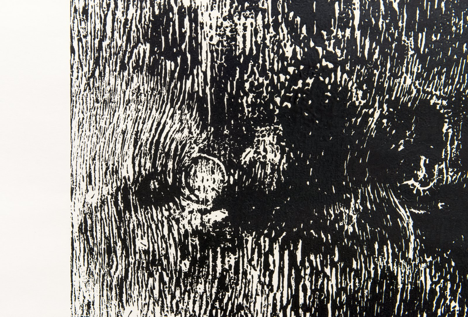 Ian Wallace, Untitled (Monoprint) (detail), 1990, ink on paper, 108 x 72 in. (274 x 183 cm) by Ian Wallace