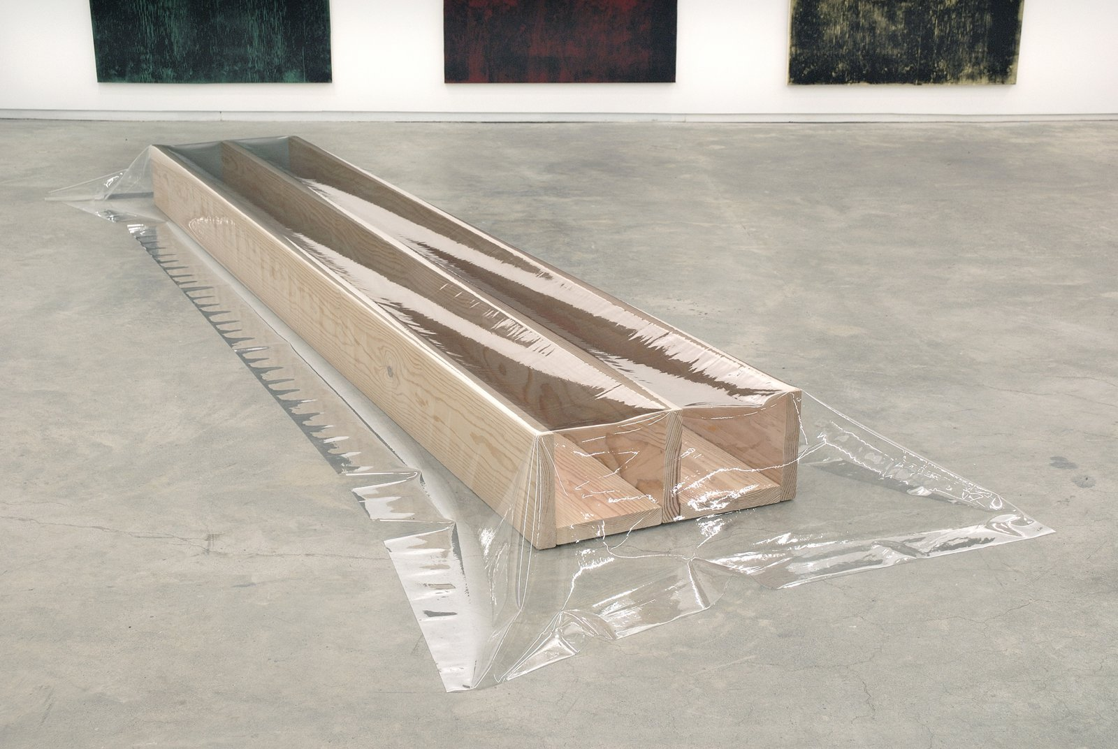 ​Ian Wallace, Untitled (Plank Piece), 1969–2007, 5 fir boards with vinyl, 9 x 47 x 156 in. (23 x 119 x 396 cm) by Ian Wallace