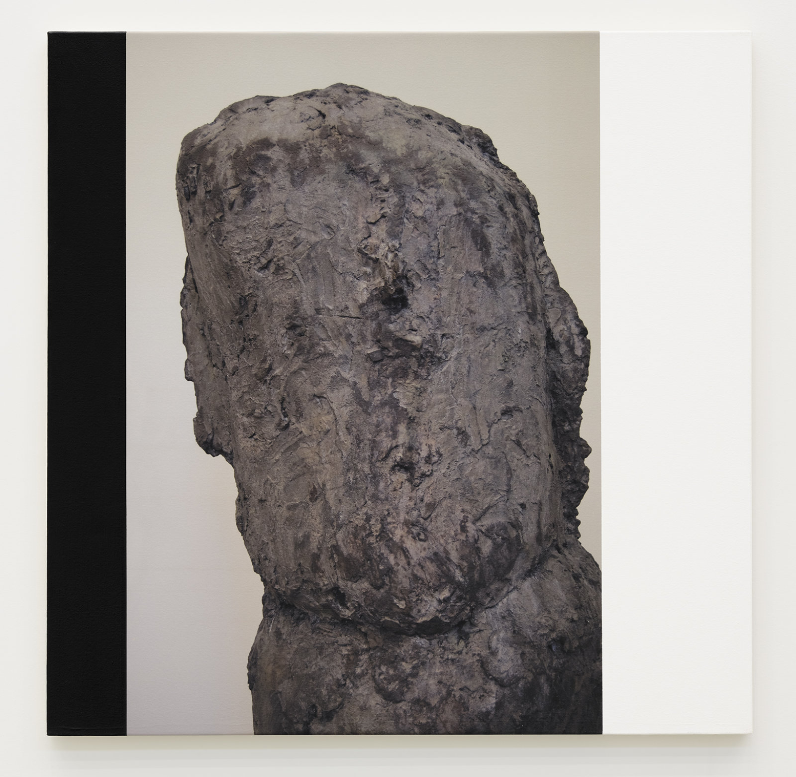 Ian Wallace, Untitled (The Hans Josephsohn Series), 2009, photolaminate and acrylic on canvas, triptych, each 36 x 36 in. (92 x 92 cm) by Ian Wallace