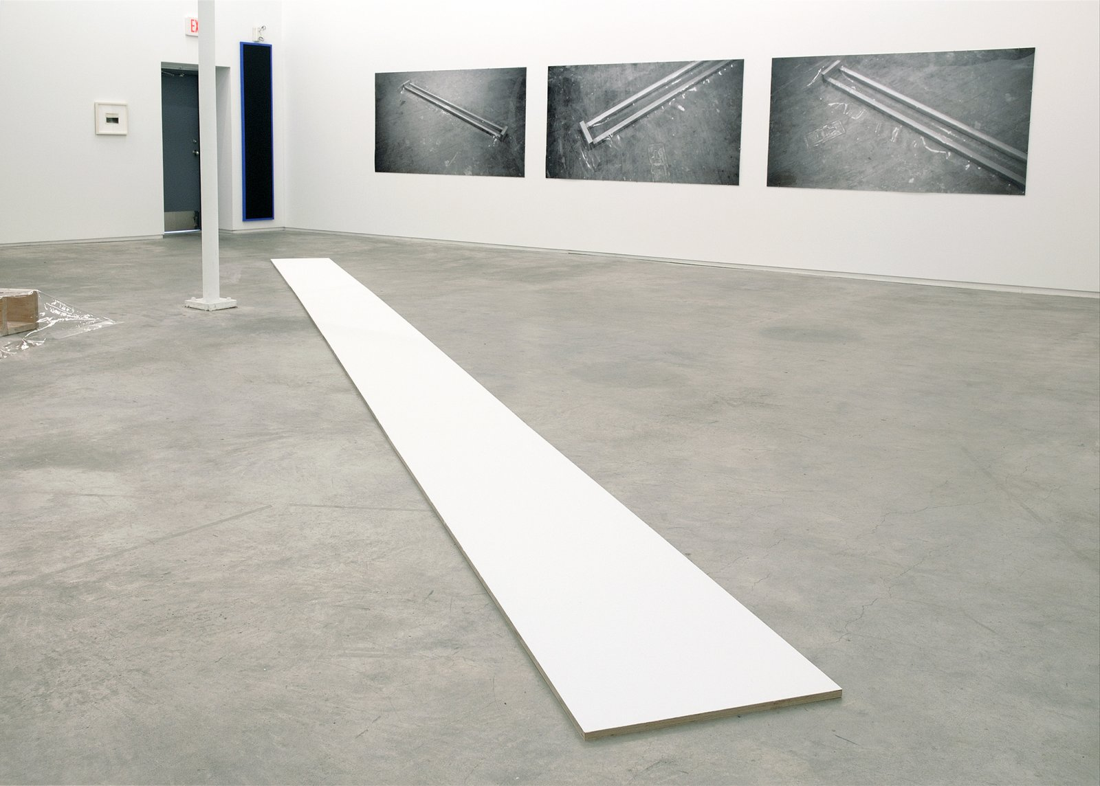 ​Ian Wallace, Untitled (White Line), 1969–2007, acrylic on plywood, 1 x 384 x 24 in. (1 x 975 x 61 cm) by Ian Wallace