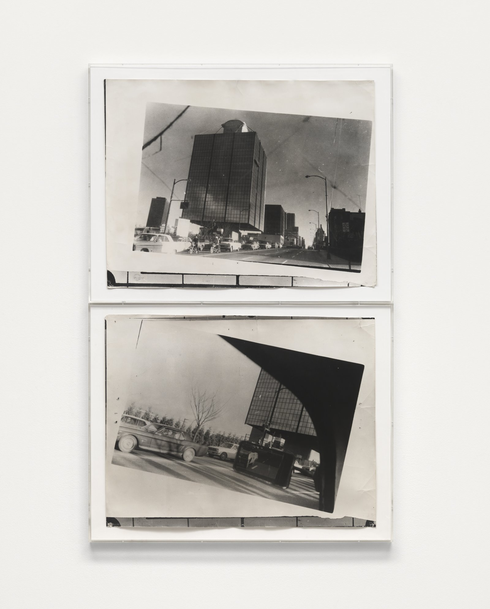 Ian Wallace, Untitled, 1969–1970, 2 black and white photographs, 71 x 45 in. (179 x 114 cm) by Ian Wallace