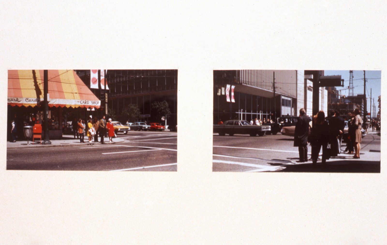 Ian Wallace, Untitled, 1969–1995, 2 cibachromes mounted on paper, 5 x 8 in. (13 x 19 cm)