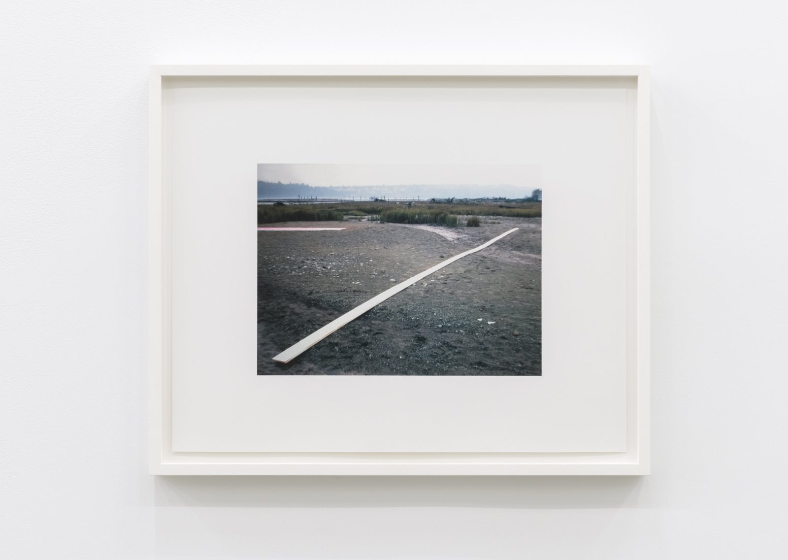 Ian Wallace, White Line (First Version 1969), 1969–2012, framed inkjet print, 22 x 27 in. (60 x 69 cm) by Ian Wallace