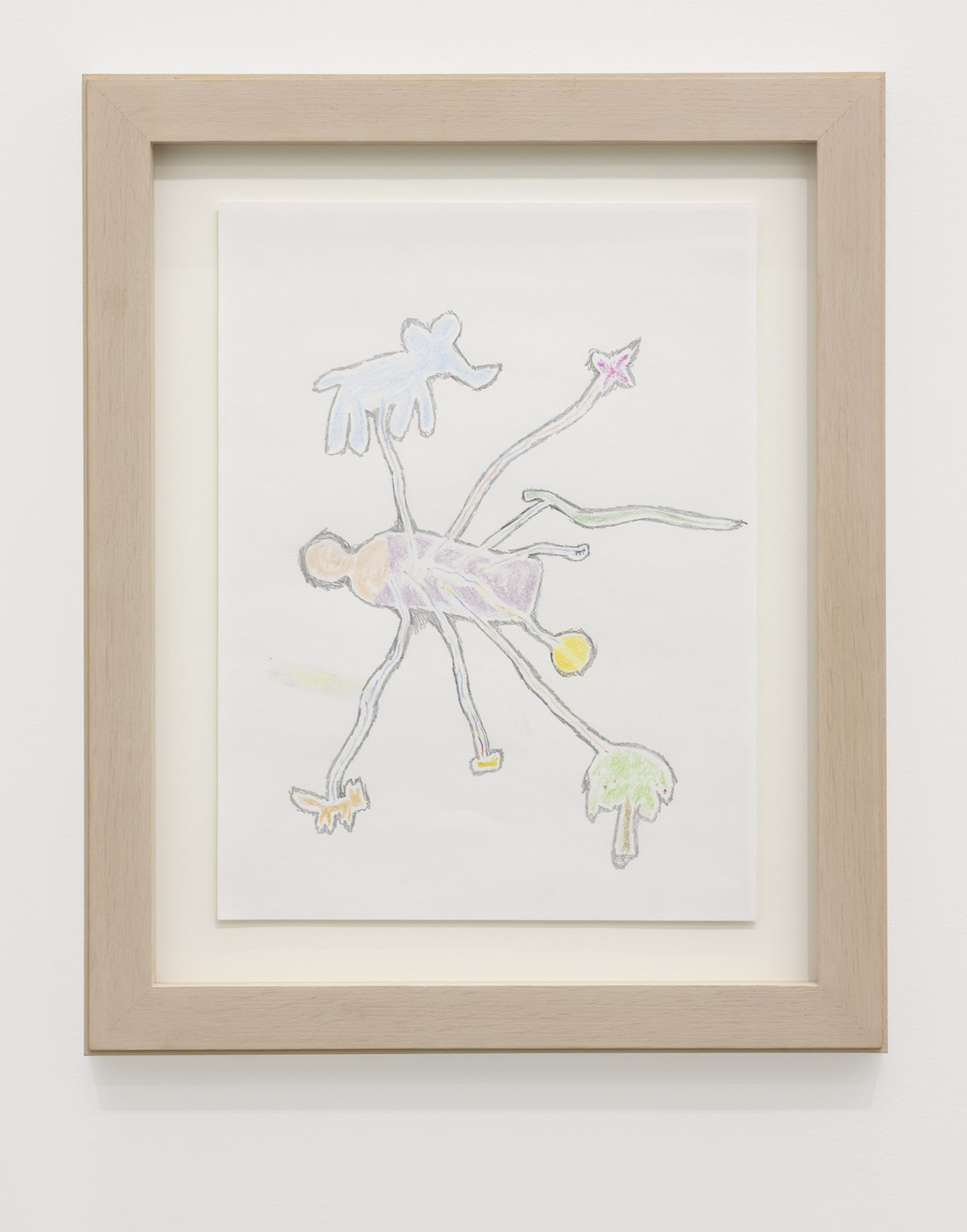 Ashes Withyman, Some kind of doctor receiving thunder, 2020, coloured pencil and graphite on paper, 16 x 13 in. (41 x 33 cm) by Ashes Withyman