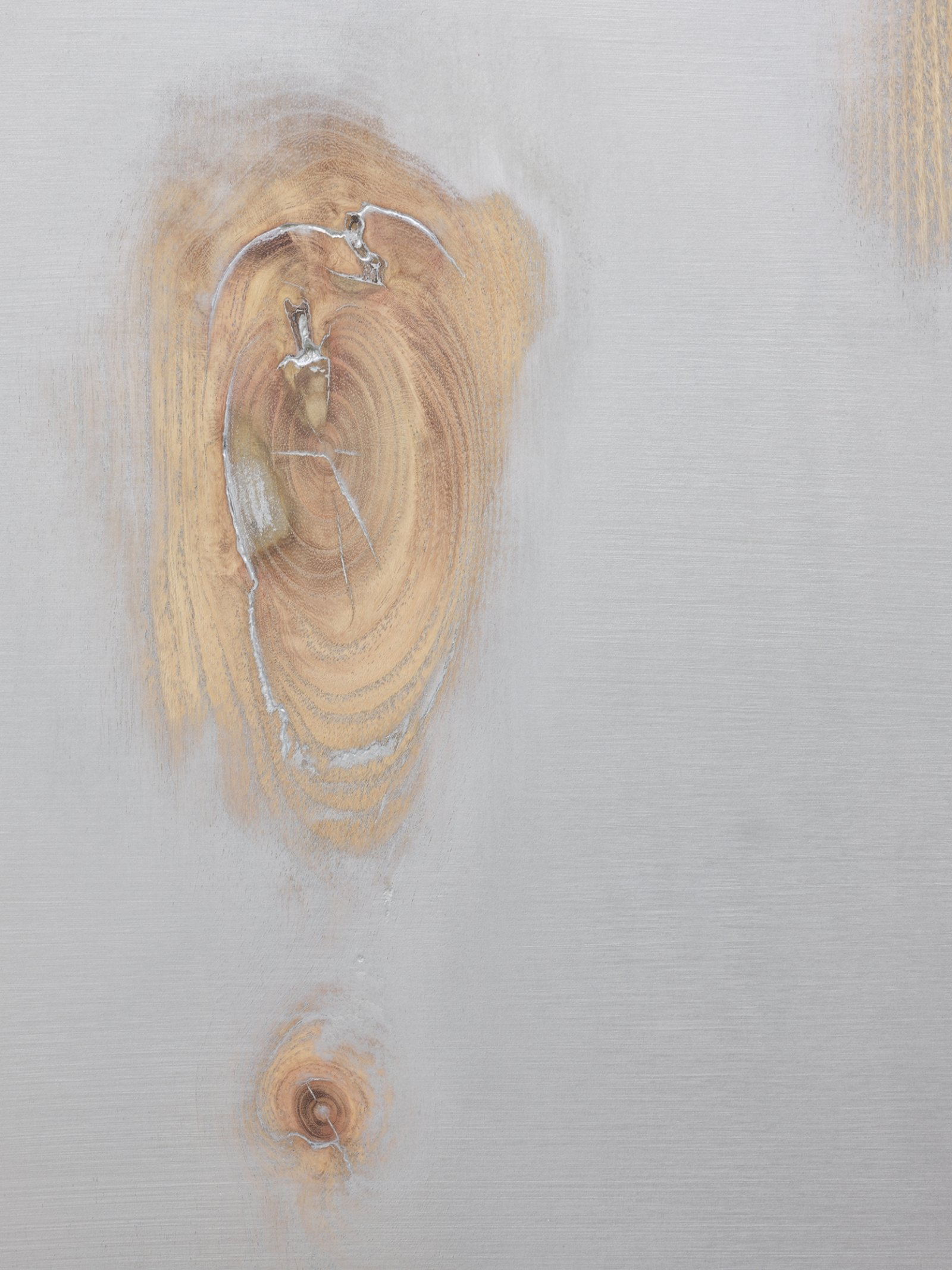 Ashes Withyman, Traceless, no more need to hide (now the old mirror reflects everything) (detail), 2020, basswood wood, honey locust wood, paint, 30 x 23 in. (76 x 57 cm) by Ashes Withyman